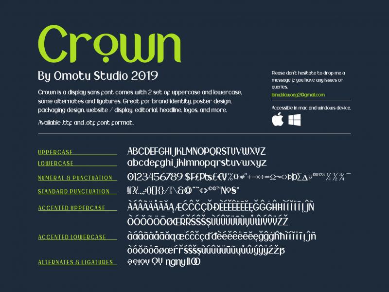 Download Crown font (typeface)