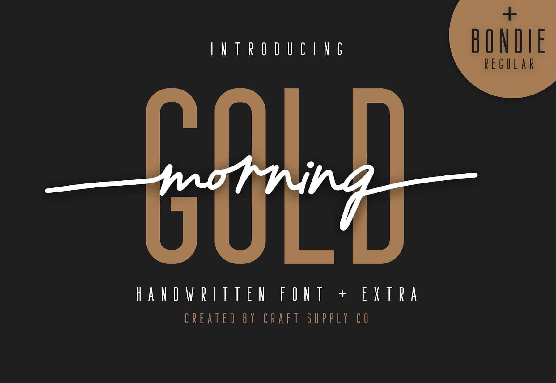 Download Morning Gold font (typeface)