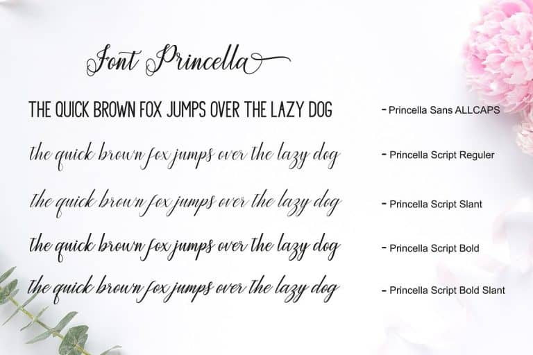 Download Princella font (typeface)