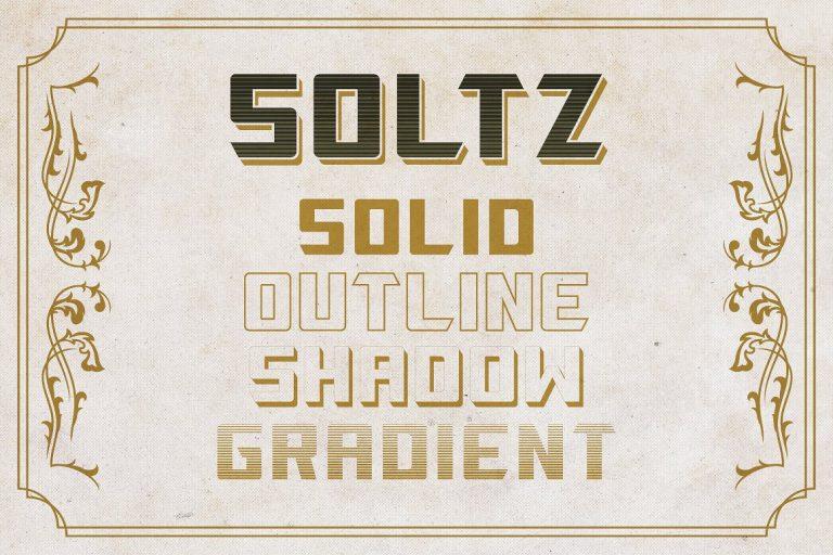 Download Soltz font (typeface)