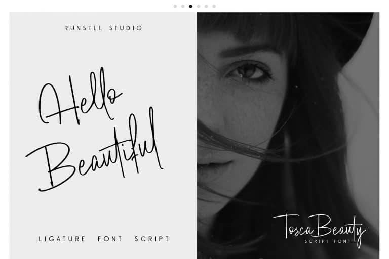 Download Tosca Beauty font (typeface)