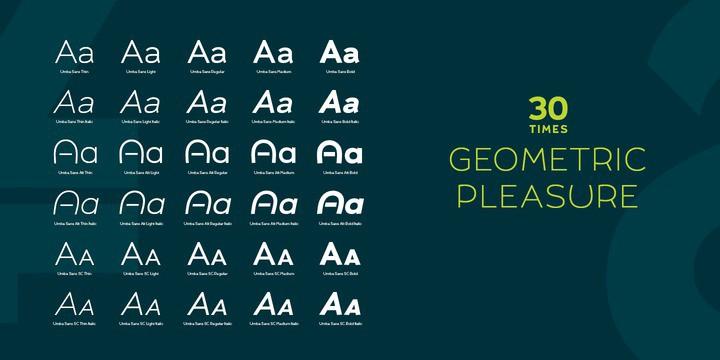 Download UMBA Sans font (typeface)