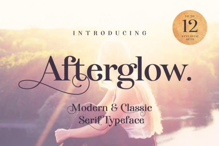 Download Afterglow font (typeface)