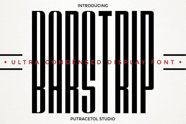 Download Barstrip font (typeface)