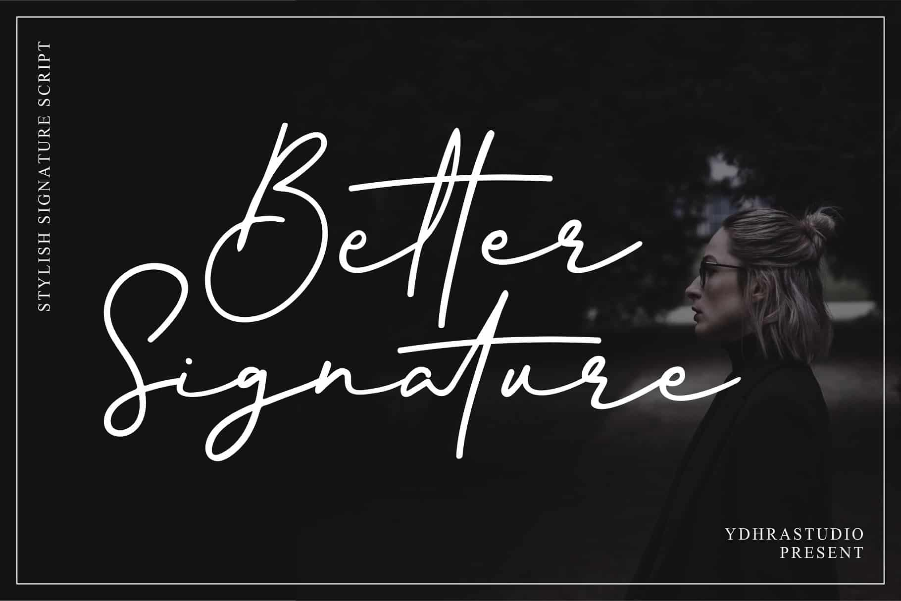 Download Better Signature font (typeface)
