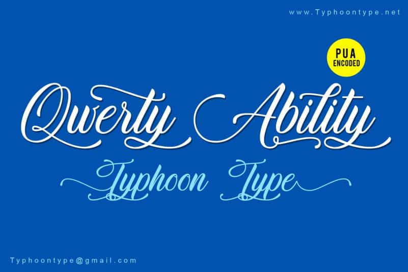 Download Qwerty Ability font (typeface)