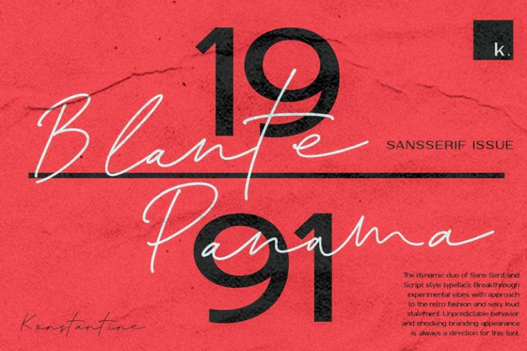 Download Blante Panama font (typeface)