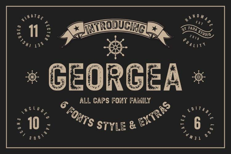 Download Georgea font (typeface)