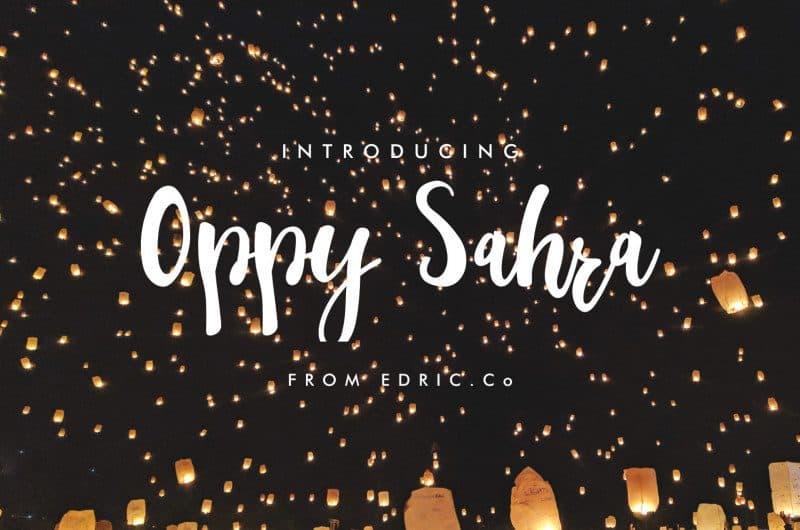 Download Oppy Sahra font (typeface)