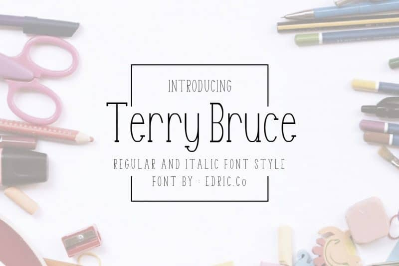 Download Terry Bruce font (typeface)