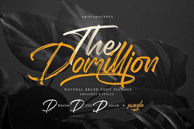 Download The Domillion font (typeface)