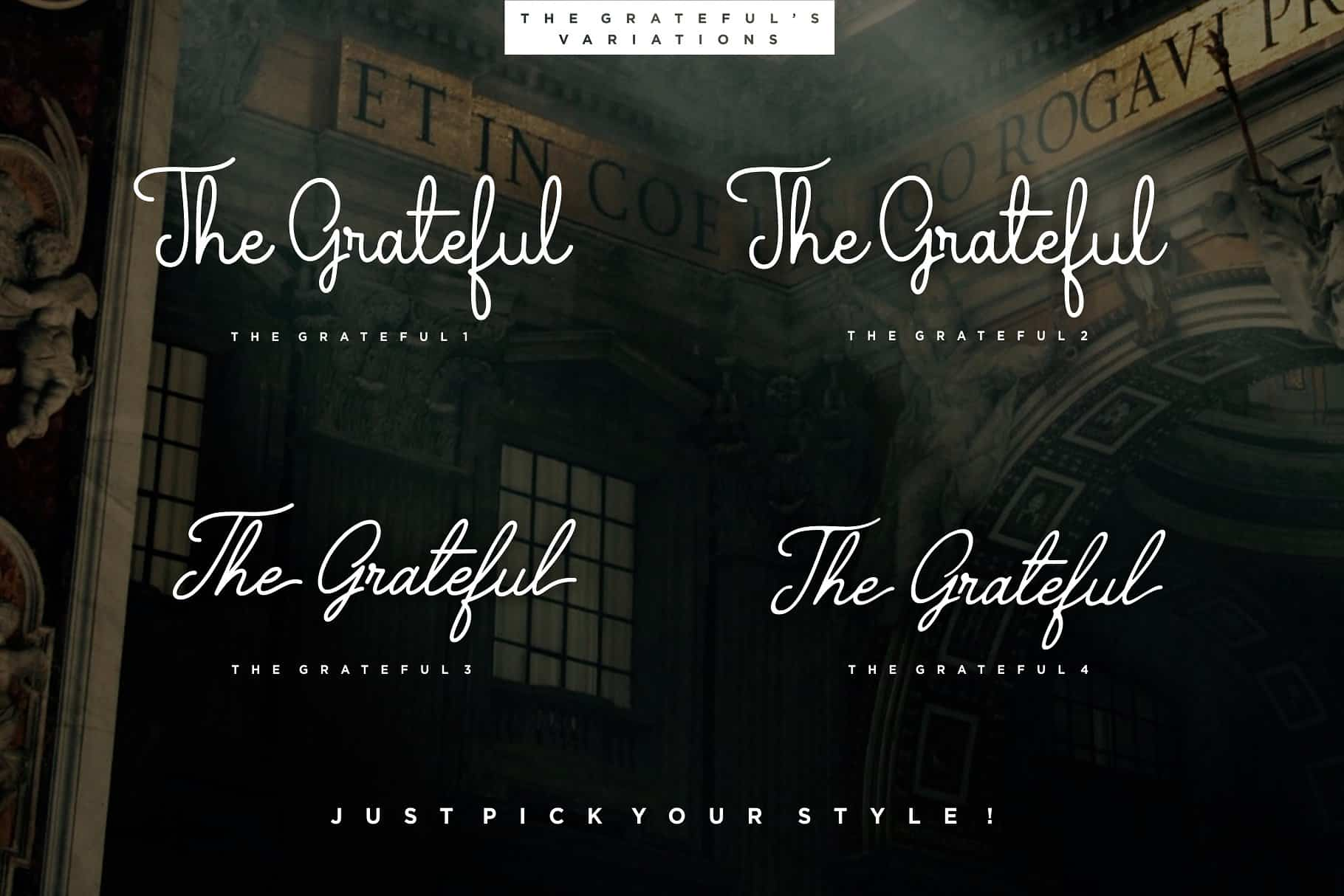Download The Grateful font (typeface)