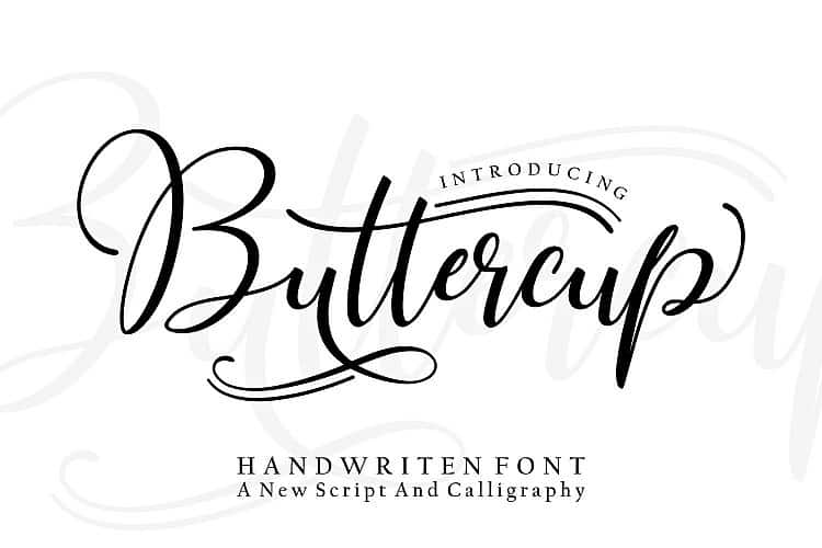 Download Buttercup font (typeface)