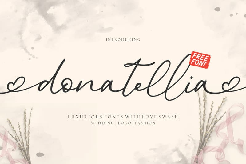Download Donatellia font (typeface)