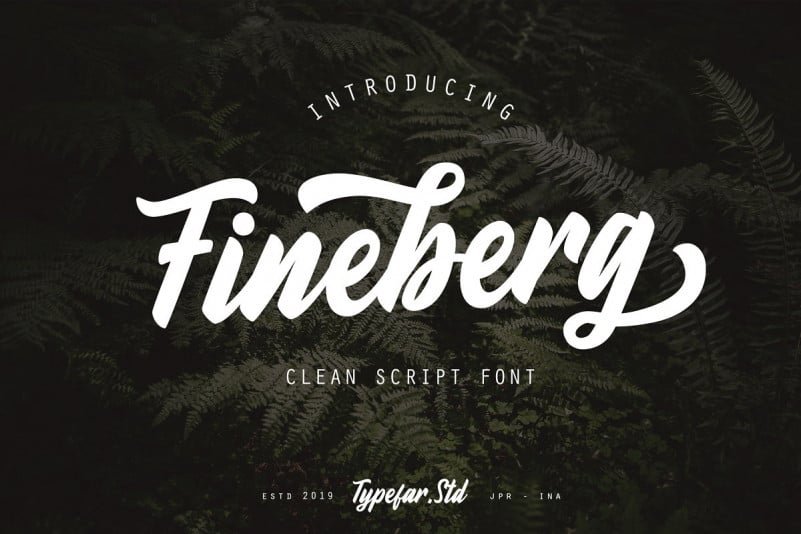 Download Fineberg font (typeface)