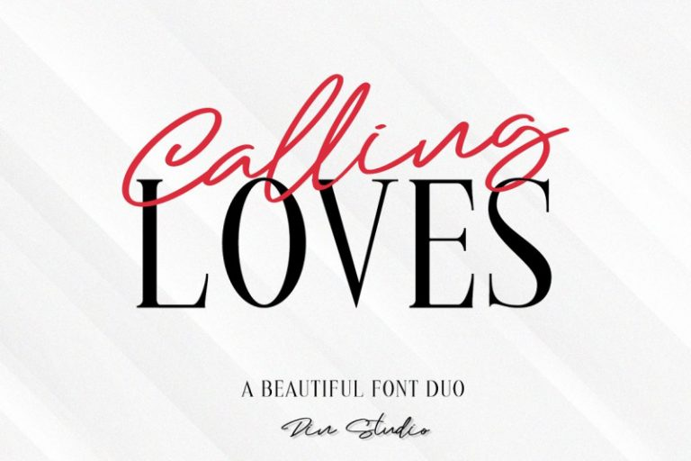 Download Calling Loves font (typeface)