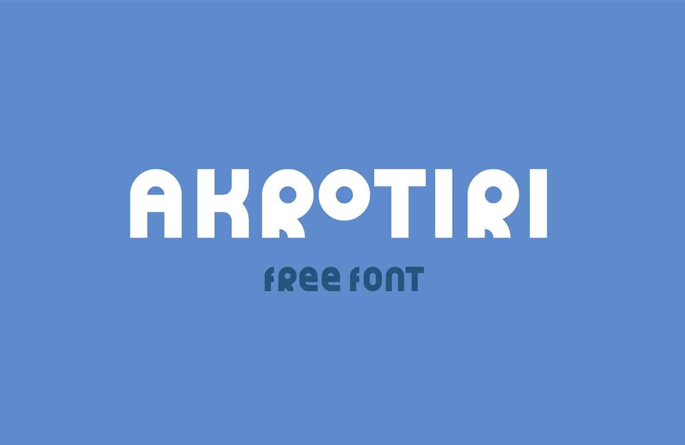 Download Akrotiri font (typeface)