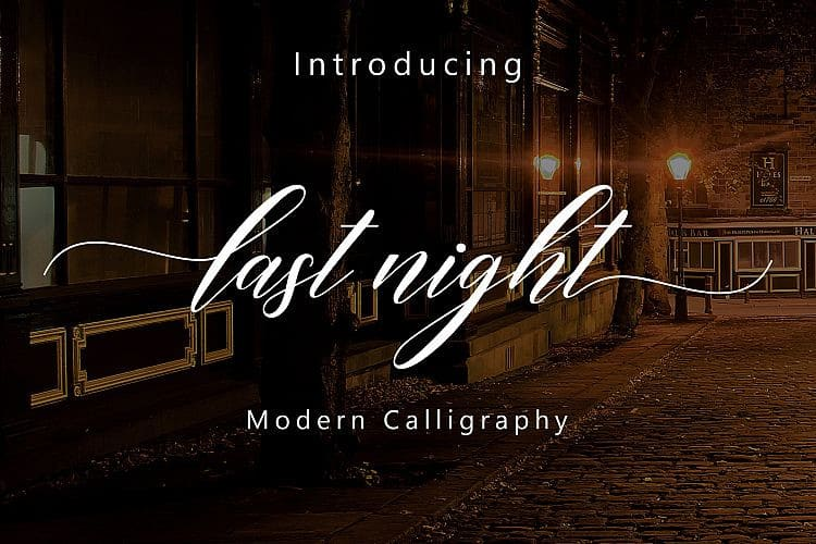Download Last Night font (typeface)