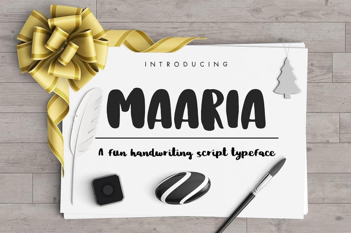 Download Maaria font (typeface)