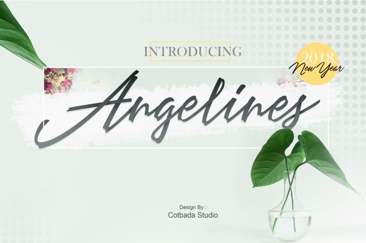 Download Angelines font (typeface)
