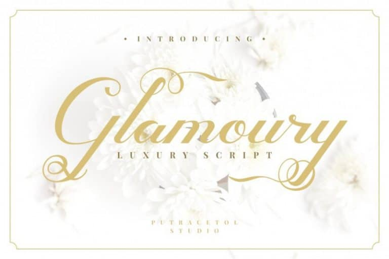 Download Glamoury font (typeface)