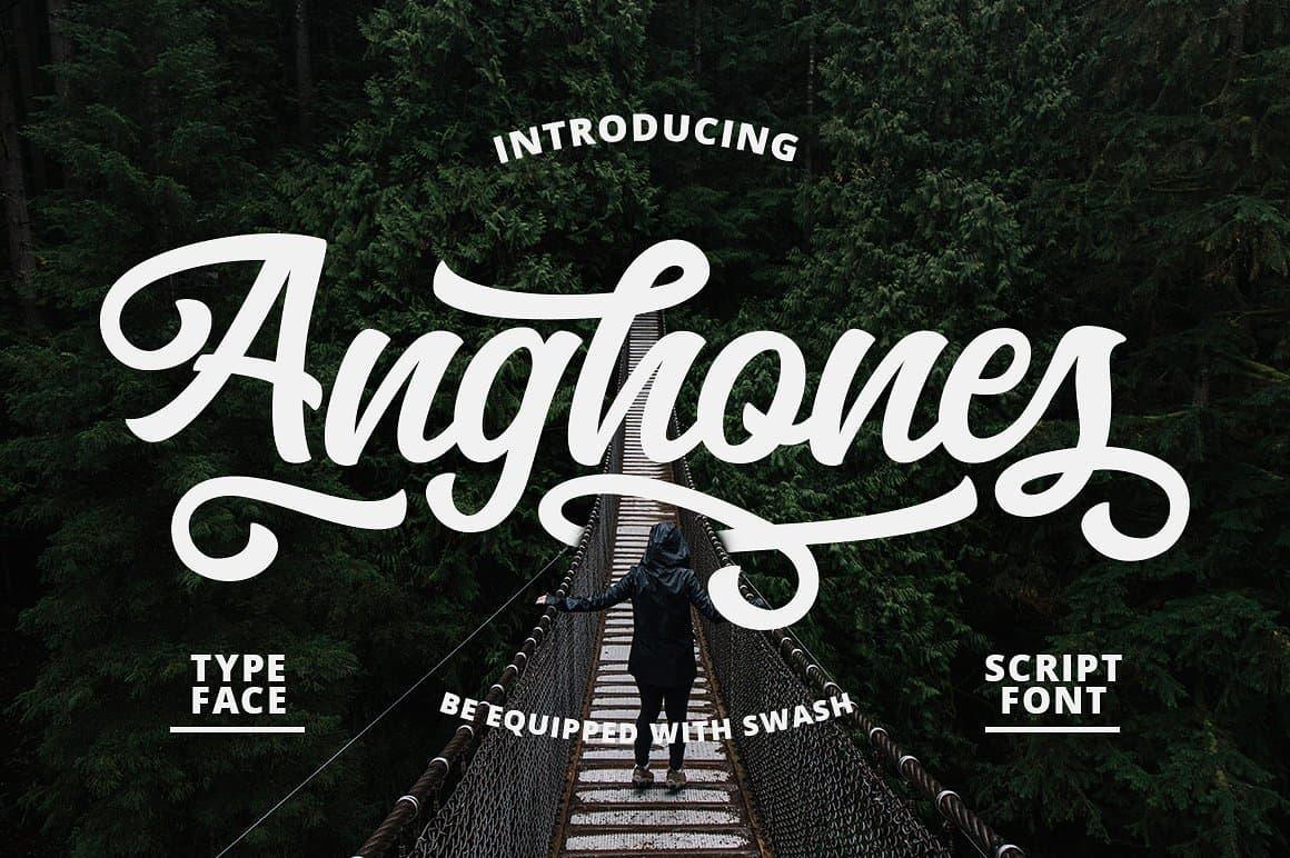 Download Anghones font (typeface)