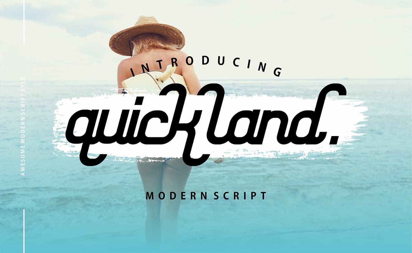 Download Quick Land font (typeface)
