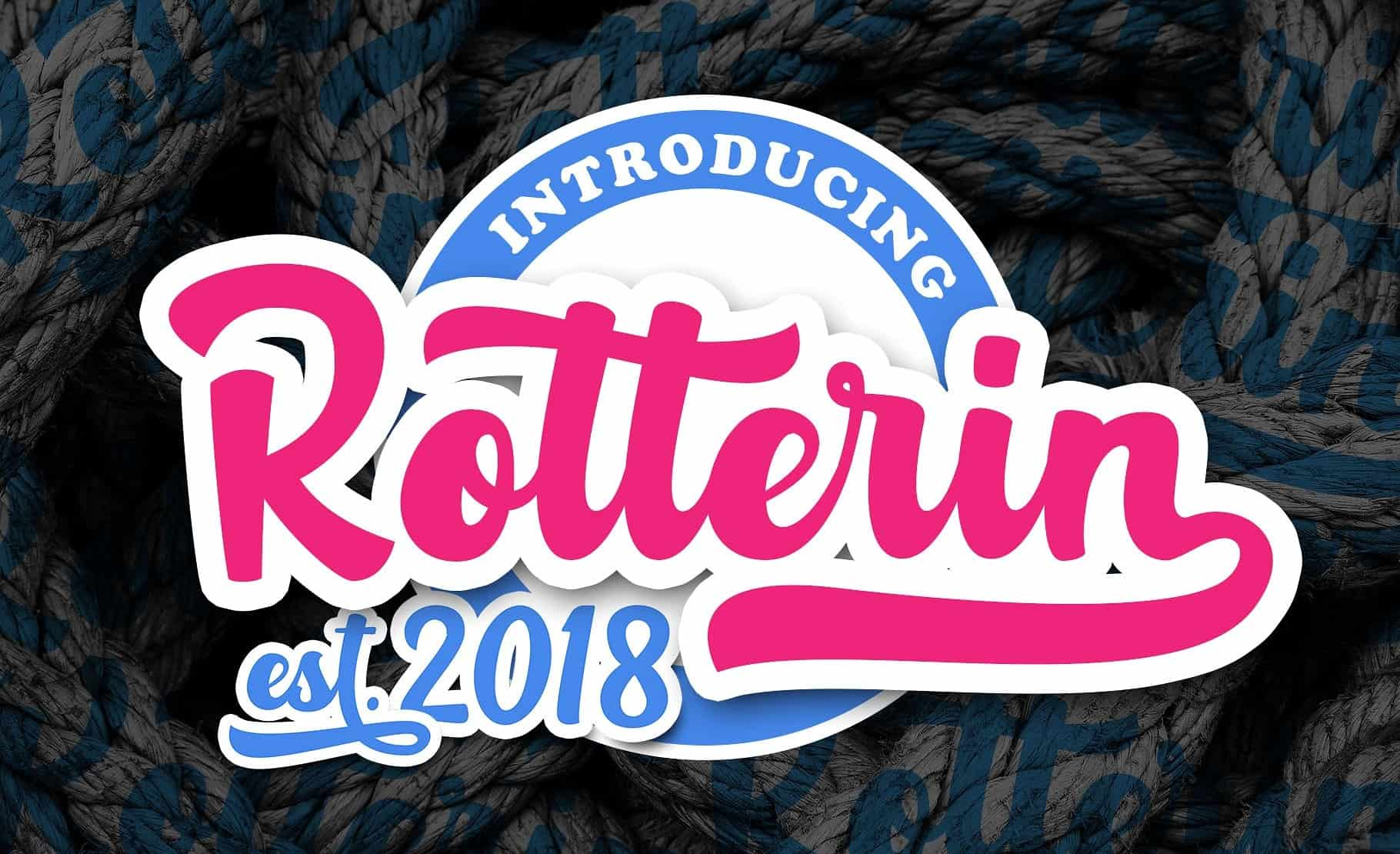 Download Rotterin font (typeface)