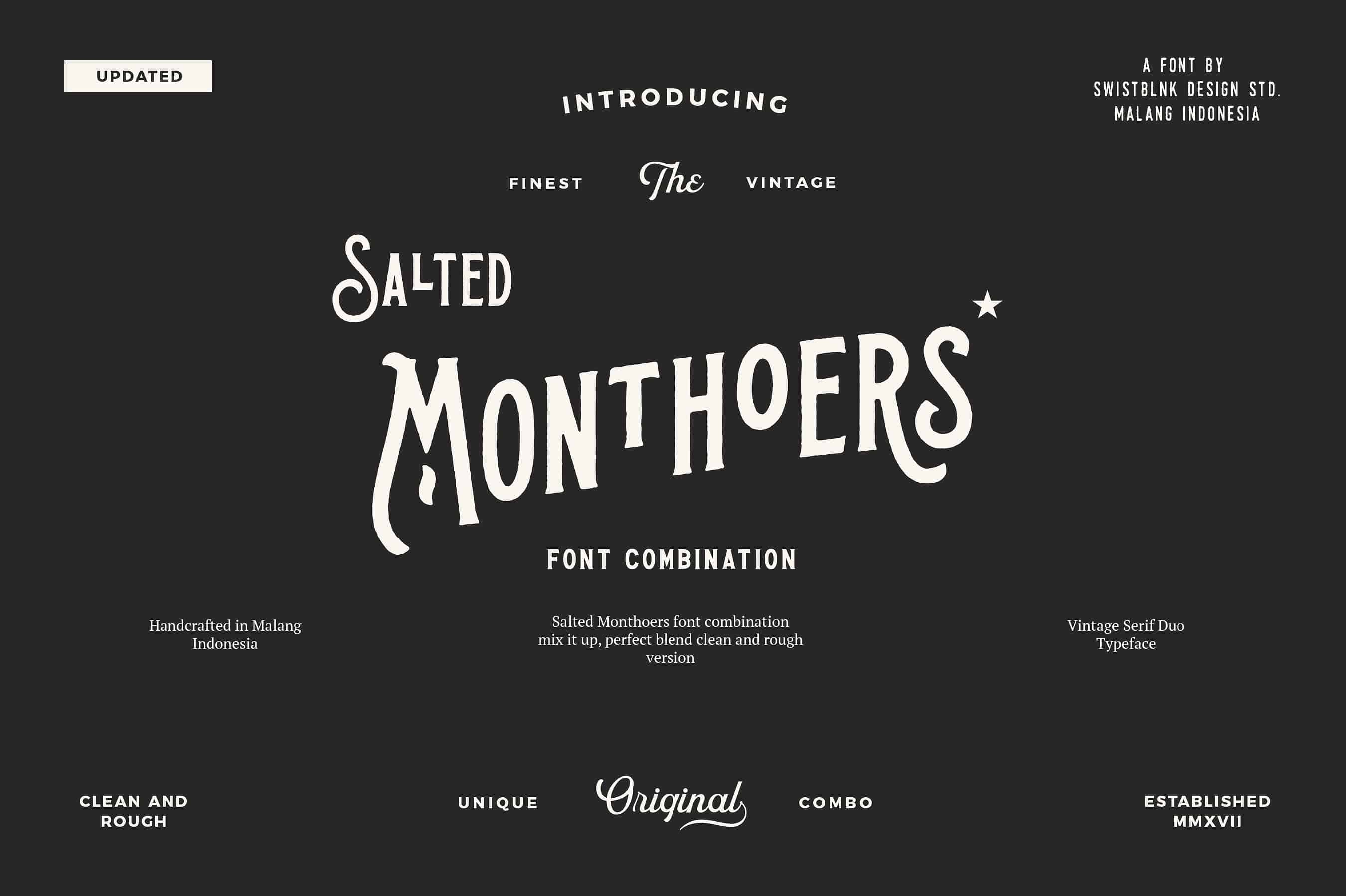 Download Salted Monthoers font (typeface)