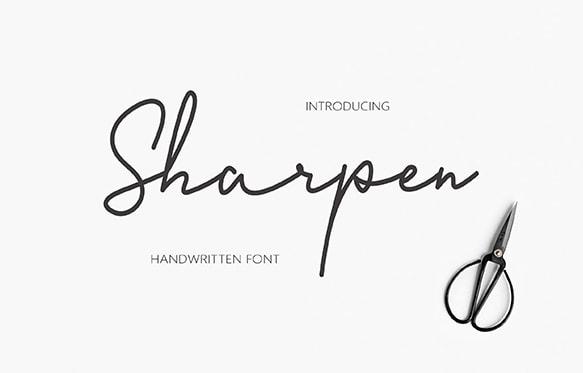 Download Sharpen font (typeface)