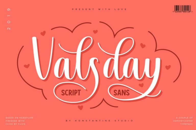 Download Valsday font (typeface)
