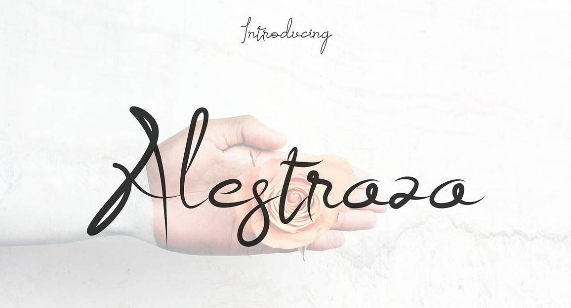 Download Alestraza font (typeface)