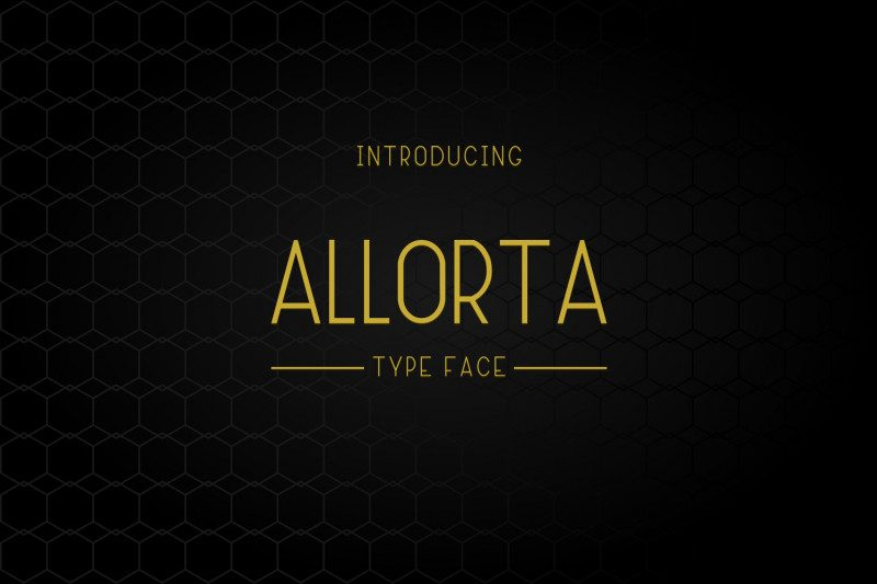 Download Allorta font (typeface)