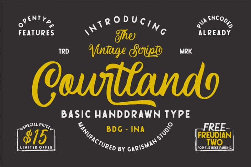 Download Courtland font (typeface)
