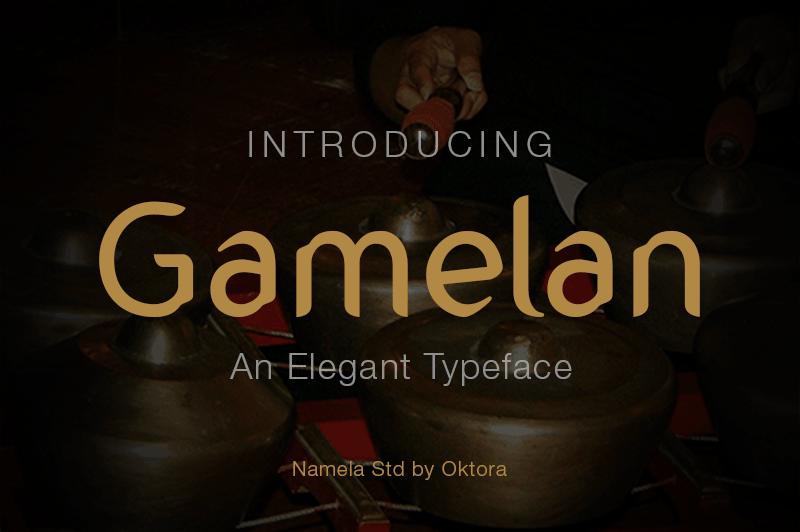 Download Gamelan font (typeface)