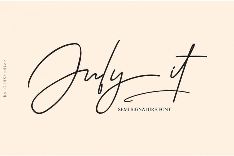 Download July it font (typeface)