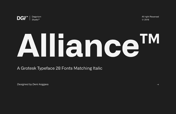 Download Alliance font (typeface)