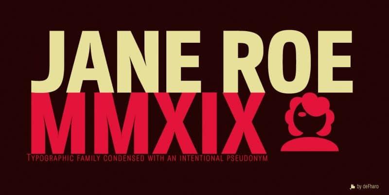 Download Jane Roe font (typeface)