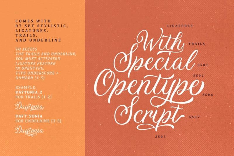 Download Daytonia font (typeface)