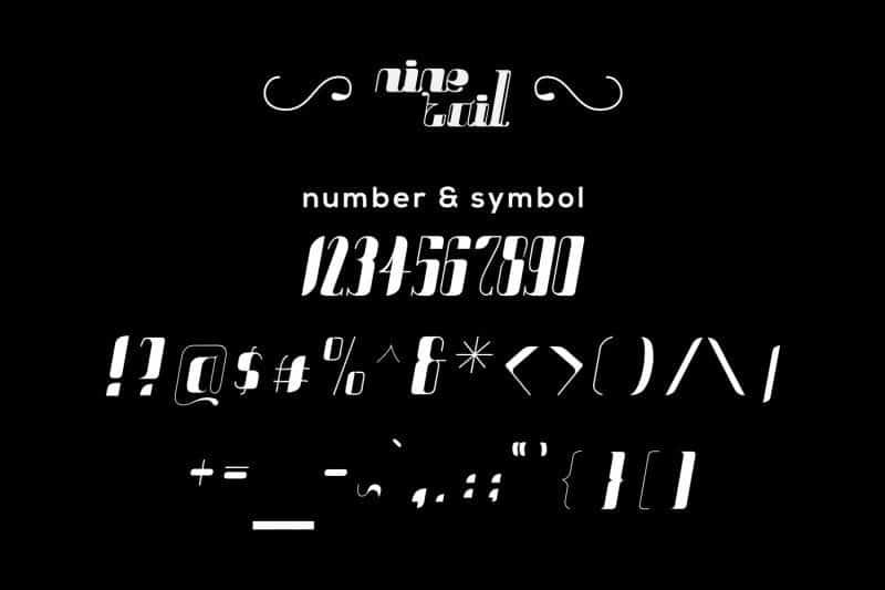 Download NineTails font (typeface)