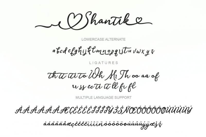 Download Shantik font (typeface)