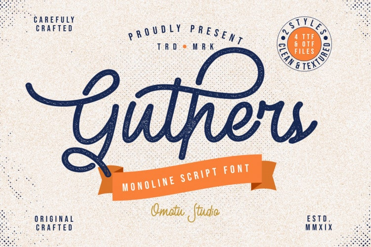 Download Guthers font (typeface)