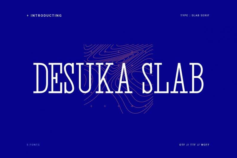 Download Desuka font (typeface)