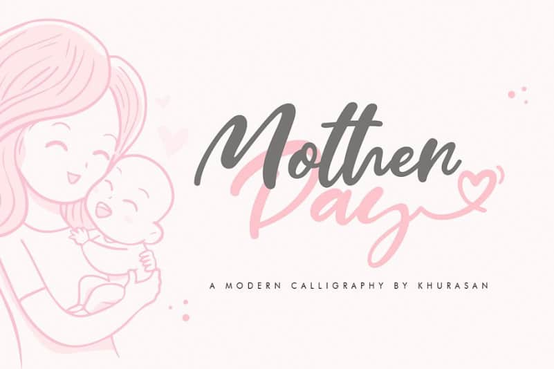 Download Mother Day font (typeface)