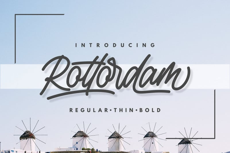 Download Rottordam font (typeface)