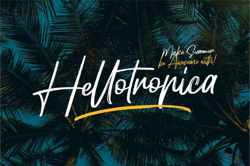 Download Hellotropica font (typeface)