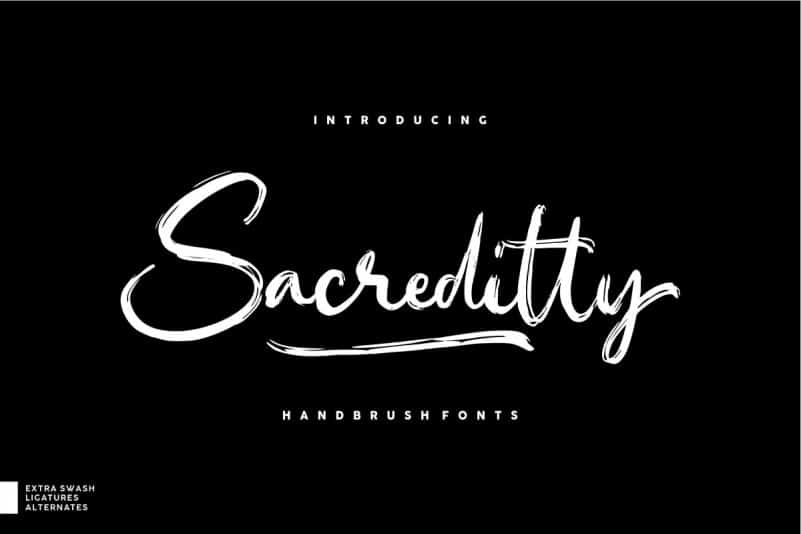 Download Sacreditty font (typeface)
