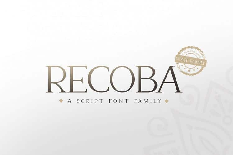 Download Recoba font (typeface)