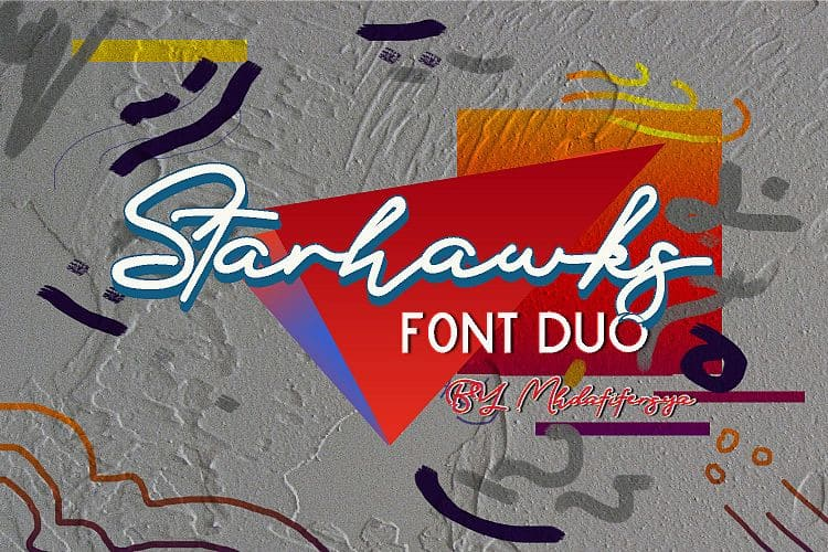 Download Starhawks font (typeface)