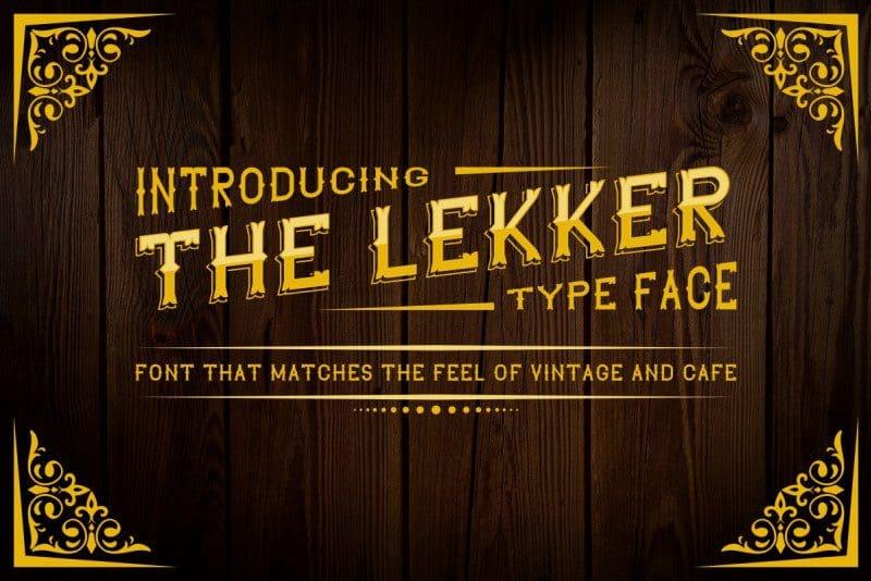 Download The Lekker font (typeface)